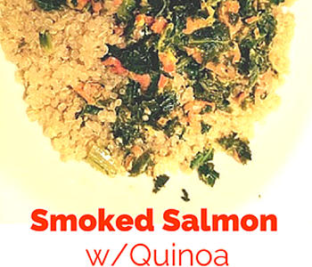 Wild Smoked Salmon & Kale with Mustard Sauce